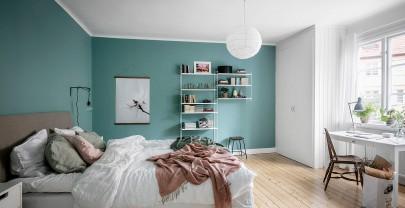 Helle Farben im Schlafzimmer